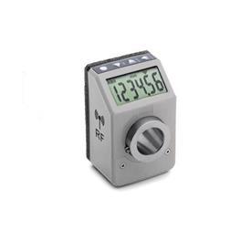 GN 9153 Stellungsanzeiger, elektronisch, mit Funk-Datenübertragung Farbe: GR - grau, RAL 7035