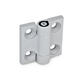 GN 437 Hinges Finish: SR - silver, RAL 9006, textured finish