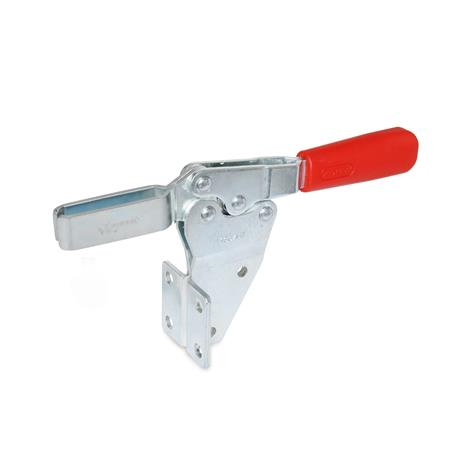 GN 820.2 Toggle clamps, operating lever horizontal, with side mounting Type: MF - U-bar version with two flanged washers