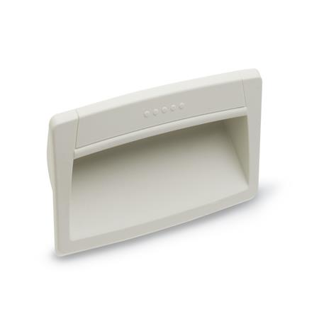 GN 731 Gripping trays, clip-in type, Plastic, Cleanline Color: CL - white, RAL 9002, Cleanline, matte