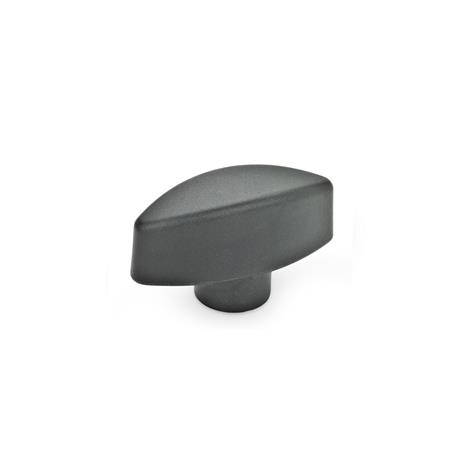 GN 532.1 Wing nuts with protruding hub Type: E - with threaded blind bore
