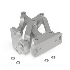 GN 7241 Multiple-joint hinge, concealed, opening angle 90°, Aluminum
