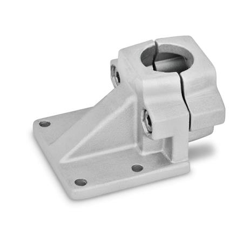 GN 166 Fuß-Klemmverbinder, Aluminium d<sub>1</sub> / s: B - Bohrung Oberfläche: BL - blank