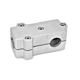GN 193 Abrazaderas de conexión en ángulo, aluminio d<sub>1</sub> / s<sub>1</sub>: B - Orificio redondo<br />d<sub>2</sub> / s<sub>2</sub>: B - Orificio redondo<br />Acabado: BL - natural, granallado mate