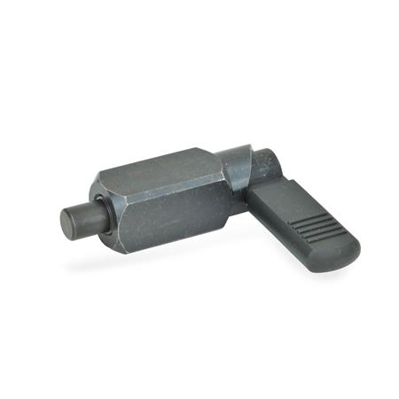 GN 612.3 Rastriegel zum Anschweißen Form: B - mit Kunststoffkappe