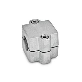 GN 241 Tube connector joints, Aluminum d<sub>1</sub> / s: B - Bore<br />Finish: BL - blank, tumbled