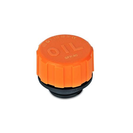 GN 552.6 ATEX-Breather caps, Plastic Type: A - without dipstick