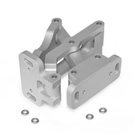GN 7247 Multiple-joint hinge, concealed, opening angle 180°, Aluminum