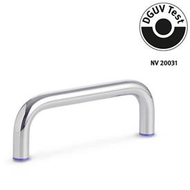 GN 429 Stainless Steel-Cabinet U-handles, Hygienic Design Finish: PL - polished (Ra < 0.8 µm)