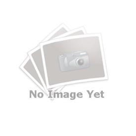GN 166 Fuß-Klemmverbinder, Aluminium d<sub>1</sub> / s: V - Vierkant<br />Oberfläche: BL - blank, gleitgeschliffen