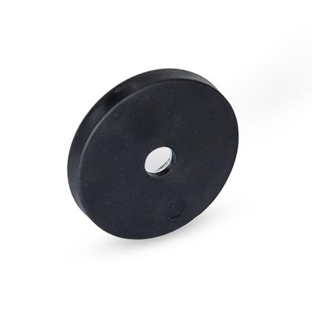 GN 51.8 Haltemagnete mit Senkbohrung, mit Gummiummantelung Farbe: SW - schwarz