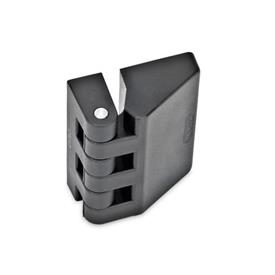GN 154 Scharniere, Kunststoff Form: A - 2x2 Gewindesacklöcher