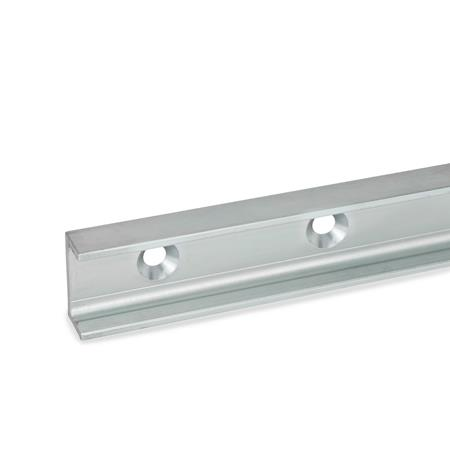 GN 2422 Cam roller linear guide rails Type: UV - Floating bearing rail, mounting hole with conical sink