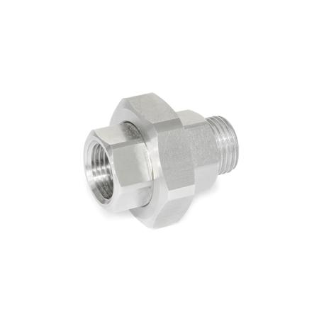 GN 7405 Stainless Steel-Strainer fittings Type: B - Fitting with female / male thread