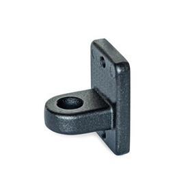 GN 271.4 Soportes para sensores, aluminio Acabado: SW - negro, RAL 9005, acabado texturado