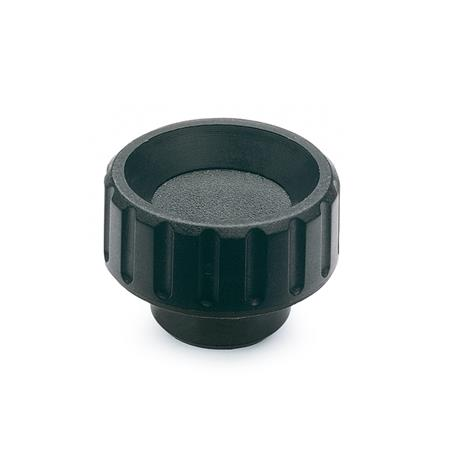 GN 590.5 Knurled Nuts, Bushing Stainless Steel Type: E - With threaded blind bore