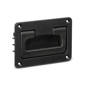 GN 825.2 Empuñaduras abatibles tipo cubeta, de plástico Color: SW - negro, RAL 9005, mate