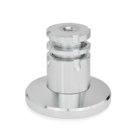 GN 360 Ausgleich-Stellfüße, Stahl Werkstoff: ST - Stahl Form: B - mit Kontermutter Fußdurchmesser d<sub>1</sub>: 79