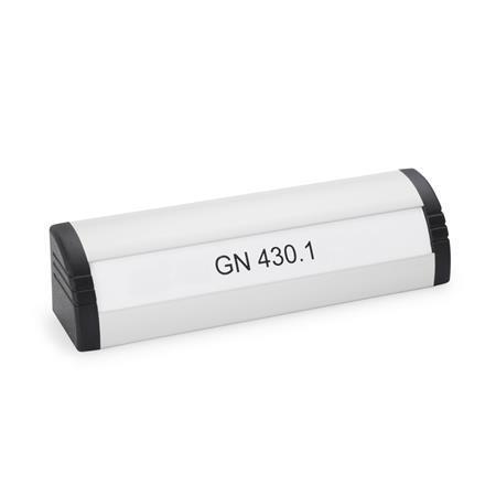 GN 430.1 Griffleisten, mit Beschriftungsfeld Oberfläche: EL - eloxiert, naturfarben
