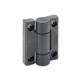 GN 233.3 Hinges, plastic, with spring-loaded return