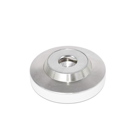 GN 6311.5 Stainless Steel-Foot plates Type: KS - with plastic cap, gliding