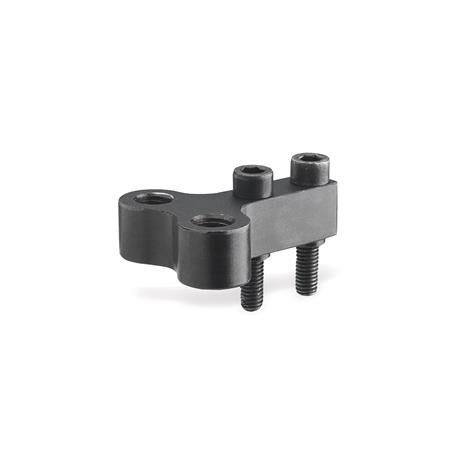 GN 867 Single post coupling / Y-coupling accessories for power clamps Type: Z - for two clamping bolts