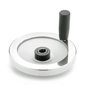 GN 321.4 Safety handwheels with friction bearing Type: D - with revolving steel handle
