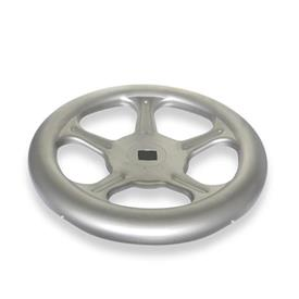 GN 228 Handwheels, made of stainless sheet steel Material: A4 - Stainless Steel<br />Bore code: V - with square<br />Type: A - without handle