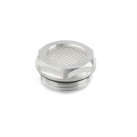GN 744 Ölschaugläser, Aluminium / Kunststoff Form: A - mit Prismeneffekt (nur d1 = 14/18/24)