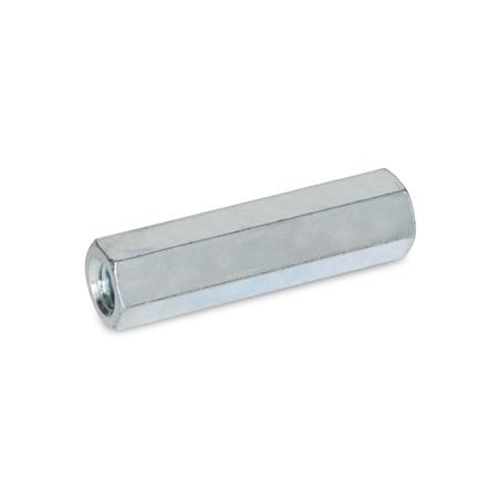 GN 6220 Spacers, steel Material: ST - Steel Type: A - female thread