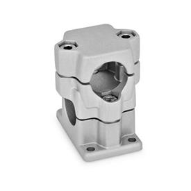 GN 141 Flanged Two-Way Connector Clamps, Multi Part Assembly Finish: BL - Plain, Matte shot-blasted