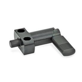 GN 612.2 Doigts d'indexage à came, bride pour montage en surface Type: B - avec capuchon en plastique