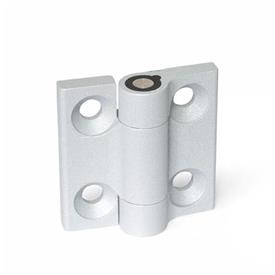 GN 437.4 Hinges, Zinc die casting, with detent Color: SR - silver, RAL 9006, textured finish