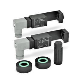 GN 654.2 Montagesets zur elektrischen Ölstandsüberwachung Form: NC-NC - 2 Schalteinheiten mit je einem Öffnerkontakt