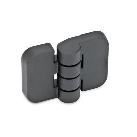 GN 158 Scharniere, Kunststoff Form: A - 2x2 Gewindesacklöcher