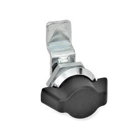 GN 115.1 Mini-Verriegelungen, Zink-Druckguss Werkstoff: ZD - Zink-Druckguss<br />Form: SK - Betätigung mit Knebel