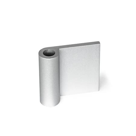 GN 2291 Hinge wings, for aluminum profiles / panel elements Type: AF - Exterior hinge wing Identification no.: A - Without bores