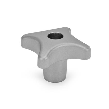 DIN 6335 Stainless Steel-Hand knobs Type: D - with threaded through bore