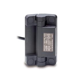 GN 239.6 Charnières avec contacteur de sécurité, plastique + câble Type: CK - Câble par l'arrière