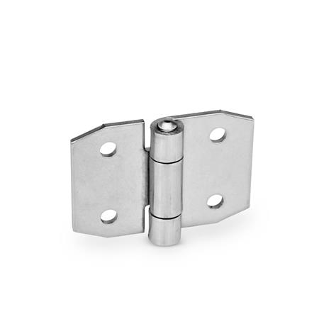 GN 1364 Stainless Steel-Sheet metal hinges, pointed Width l<sub>1</sub>: 70
