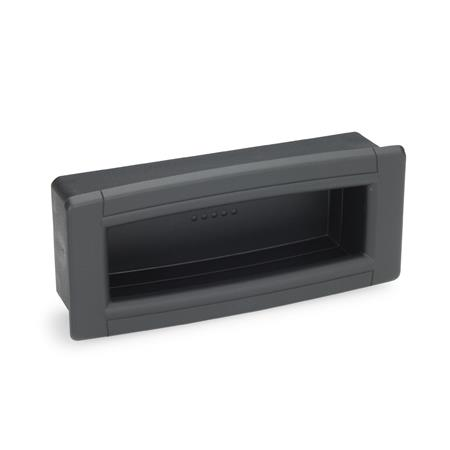 GN 739 Gripping trays, screw-in type, Plastic Color: SG - black-gray, RAL 7021, matte