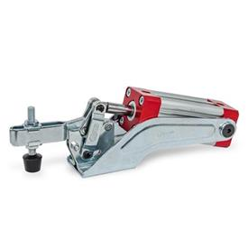 GN 860 Toggle Clamps, Pneumatic Type: CP - Forked clamping arm, with two flanged washers and clamping screw GN 708.1