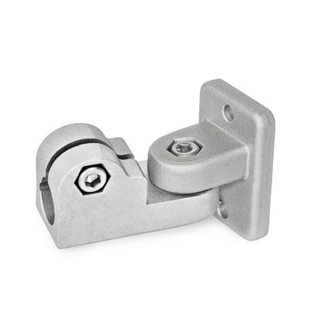 GN 281 Swivel clamp connector joints, Aluminium Finish: BL - blank Identification No.: 2 - with 2 Stainless Steel-Clamping screws DIN 912