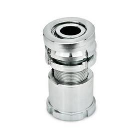 GN 350.5 Ausgleich-Elemente mit Kugelscheibe, mit Kontermutter, Stahl Werkstoff: ST - Stahl