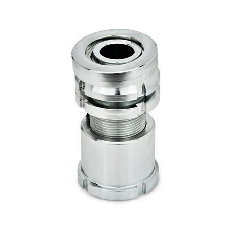 GN 350.5 Conjuntos de nivelación con arandela esférica, con contratuerca, acero Material: ST - Acero