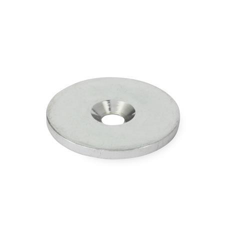 GN 70 Discos de sujeción, acero Tipo: A - plano, sin borde de tope Material: ST - Acero