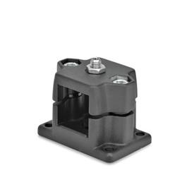 GN 147.7 Locking slide units Identification No.: D - with spring plungers<br />Finish: SW - black, RAL 9005, textured finish