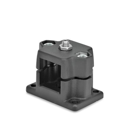 GN 147.7 Locking slide units Identification No.: D - with spring plungers Finish: SW - black, RAL 9005, textured finish