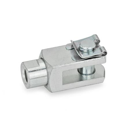 GN 751.1 Fork joints with rotating shaft Type: SL - Pin with SL-shaft safety