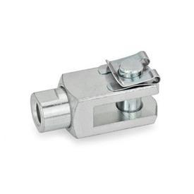 GN 751.1 Gabelgelenke mit drehbarem Schaft Form: SL - Bolzen mit SL-Wellensicherung